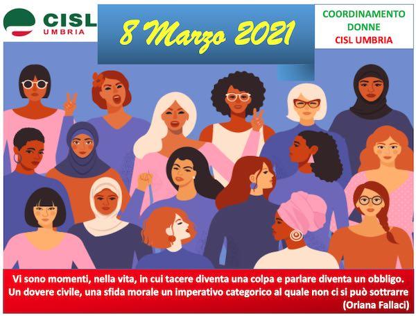 """Il Coordinamento Donne Cisl Umbria chiede di uscire dalla retorica. """"Nel cambio culturale ci devono credere anche gli uomini"""""""