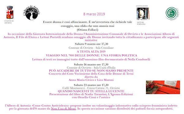 Giornata Internazionale della Donna, le iniziative promosse da Associazioni e Comune