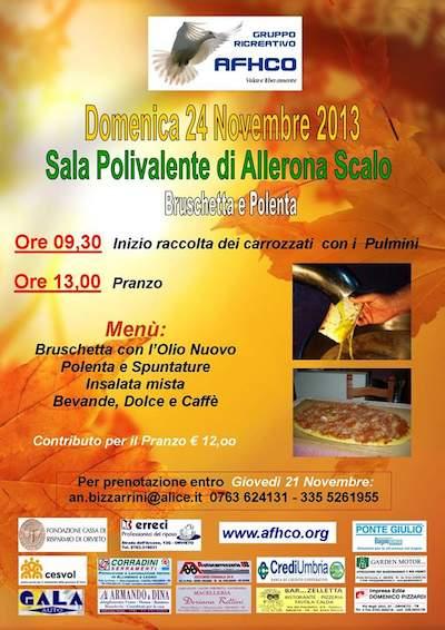 Bruschetta e polenta con l'Afhco
