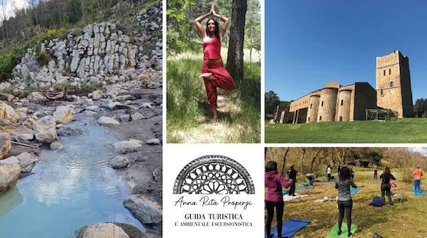 """Natura, trekking, yoga e cultura. """"Dall'Abbazia di San Giusto alle solfatare sul fiume Marta"""""""