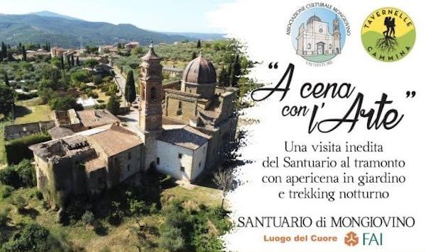 """""""A Cena con l'Arte"""", quattro appuntamenti in notturna al Santuario di Mongiovino"""