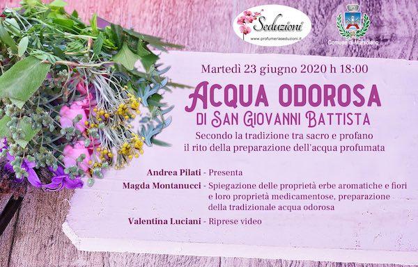 L'Acqua Odorosa di San Giovanni Battista si prepara su Facebook