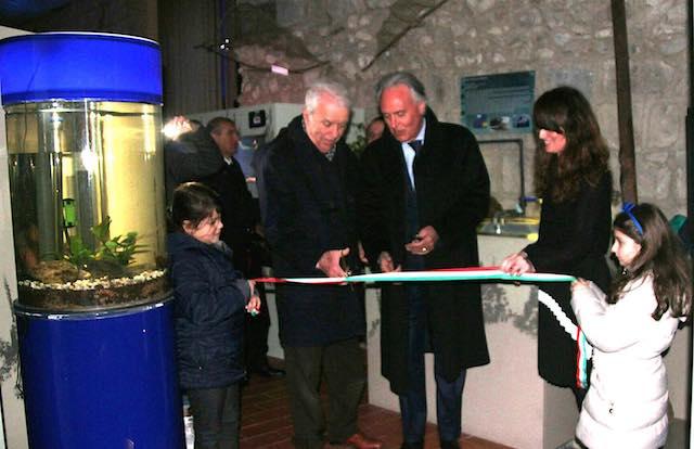 Inaugurata la nuova sezione dell'Acquario con i pesci di acqua dolce