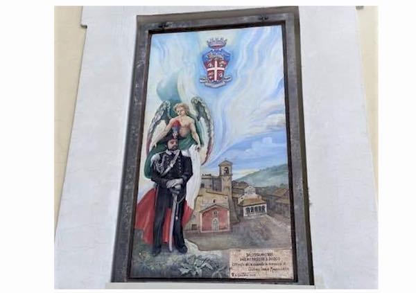 Un affresco per celebrare i Carabinieri. Ricordato il militare ucciso a Roma