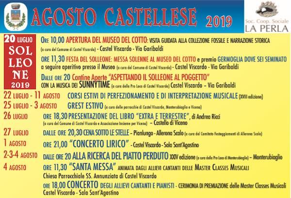 """Chiuso il programma, si apre """"L'Agosto Castellese 2019"""""""