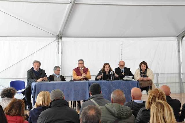 Post-sisma, Marini ed Errani incontrano gli abitanti di Norcia, Castelluccio e San Pellegrino