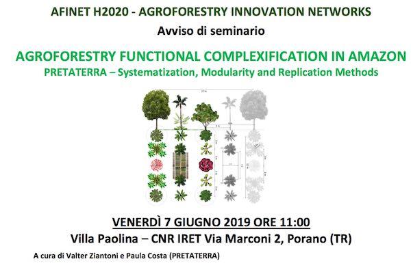 """Seminario su """"Agroforestry Functional Complexification in Amazon Pretaterra"""""""
