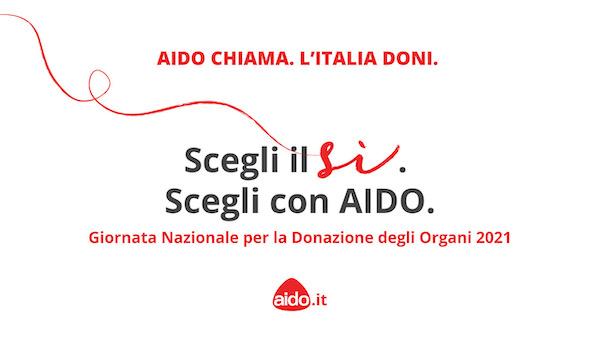 Messaggio di sensibilizzazione su Palazzo dei Priori nella Giornata nazionale della donazione di organi