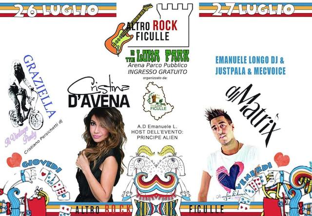 """Altro Rock Ficulle 2018"". Musica, sapori e divertimento ""In The Luna Park"""