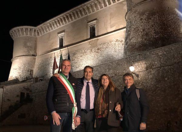Inaugurate la nuova illuminazione artistica del Castello e il rifacimento dei Bastioni