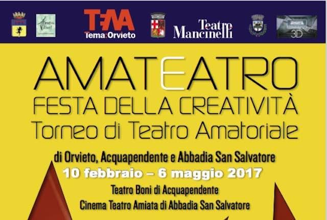 I due finalisti di AmaTeatro 2017. Ad autunno le finali al Mancinelli