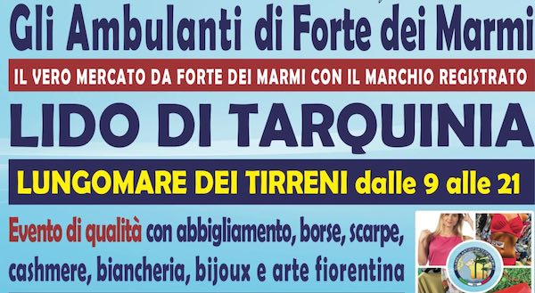 Gli Ambulanti di Forte dei Marmi al Lido di Tarquinia