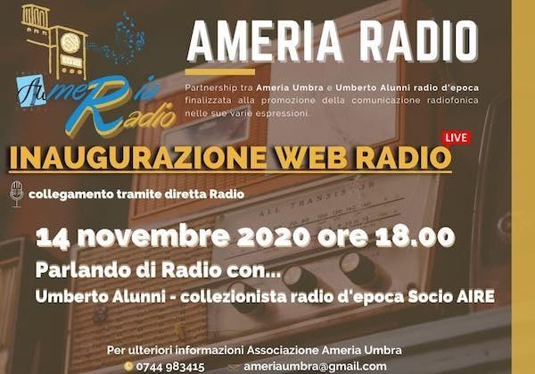 """Una radiotrasmissione in diretta per inaugurare sul web """"Ameria Radio"""""""