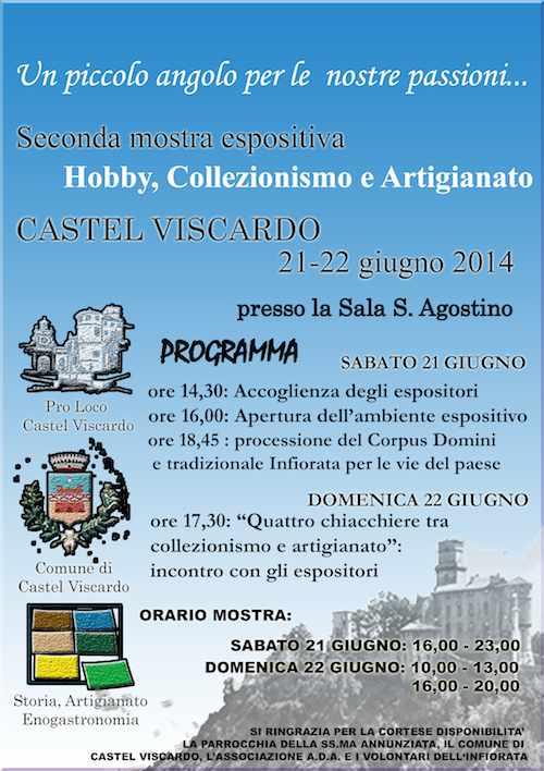 A Castel Viscardo seconda edizione per la mostra dedicata a hobby, collezionismo e artigianato