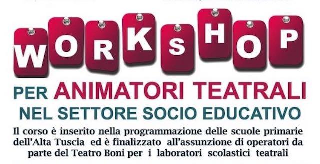 Animatori teatrali, c'è il corso di formazione al Teatro Boni