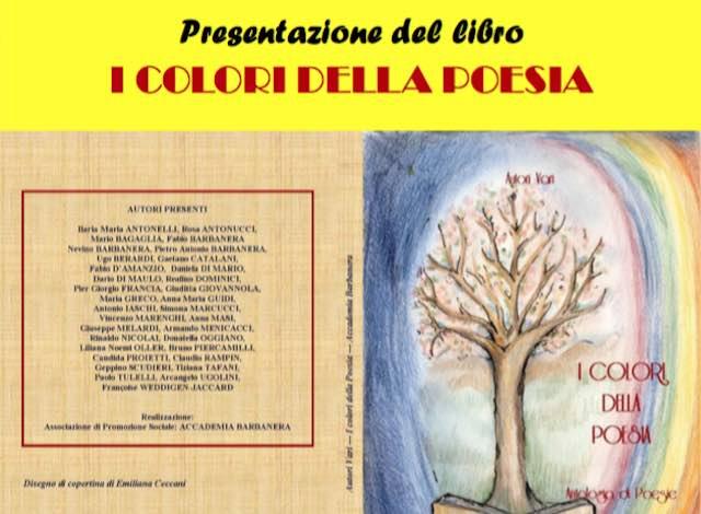 """Al Muvis l'Accademia Barbanera presenta l'antologia """"I colori della poesia"""""""