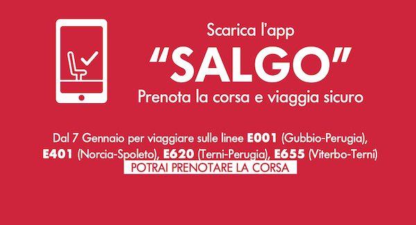 """Fs Italiane, Busitalia Umbria: """"Dal 7 gennaio prenotazione del posto con l'App Salgo"""""""