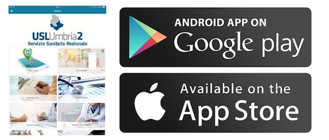 On line la nuova App dell'Azienda Usl Umbria 2