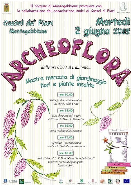 "Castel di Fiori profuma per l'edizione 2015 di ""Archeoflora"""