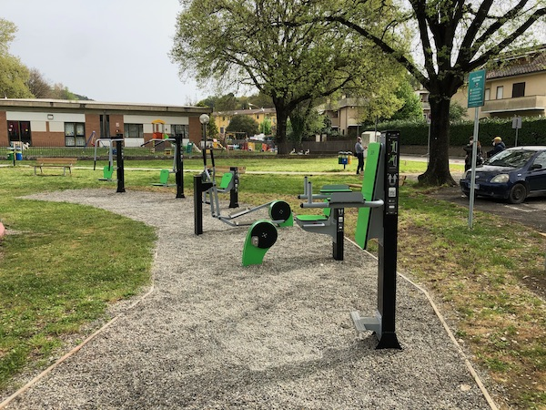 Inaugurata a Ciconia la nuova area fitness nei Giardini Comunali di Via degli Aceri