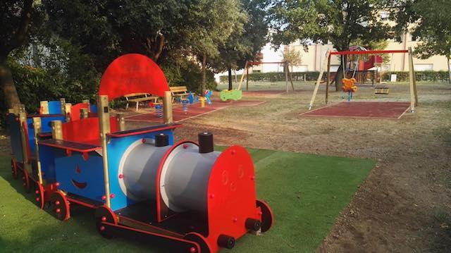 """""""Area Giochi Maura"""". Nuove attrazioni per bambini nell'area a verde di Ciconia"""