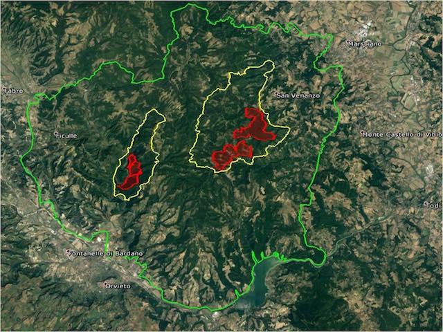 Monte Peglia, plaude il Comando Unità Forestali Ambientali e Agroalimentari Carabinieri