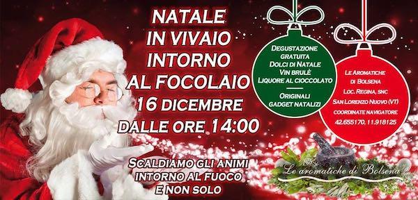 """""""Natale in Vivaio intorno al focolaio"""" a """"Le Aromatiche di Bolsena"""""""
