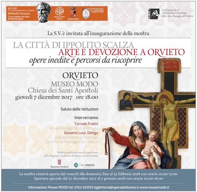 """""""La città di Ippolito Scalza. Arte e devozione a Orvieto: opere inedite e percorsi da riscoprire"""""""