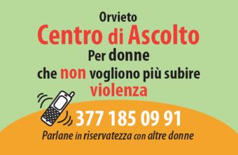Continua a Orvieto l'attività del centro di ascolto per le donne che non vogliono più subire violenza