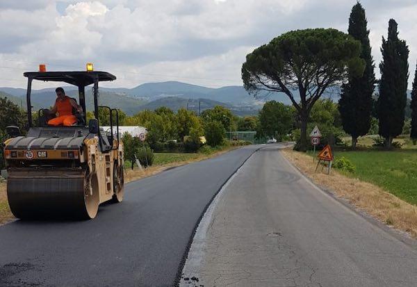 Via ai lavori di ripavimentazione della SP 56 e della SP 12 Bagnorese