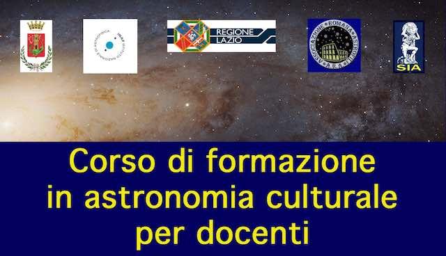 Astronomia Culturale, a novembre il corso formativo per venti docenti