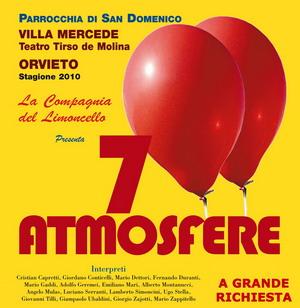 """A grande richiesta replica """"7 Atmosfere"""" della Compagnia del Limoncello, sabato 27 a Villa Mercede"""