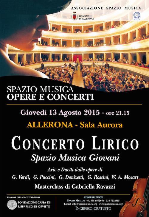 Spazio Musica Opere e Concerti. Galà Lirico alla Sala Aurora