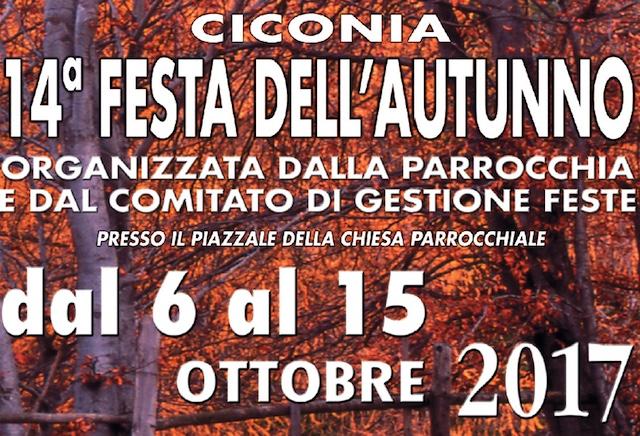 Dal 6 al 15 Ottobre a Ciconia è tempo della 14esima Festa dell'Autunno