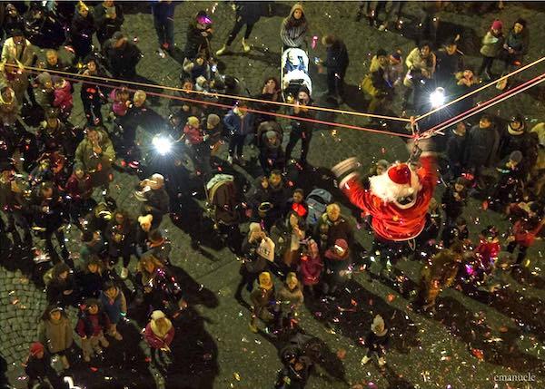 Il Babbo Natale del GSCO arriva dal cielo di Orvieto e Castel Viscardo