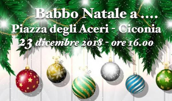 """Babbo Natale a Piazza degli Aceri per """"Una favola di Natale"""""""