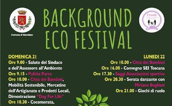 """Nasce """"Background Eco Festival"""". Ottimisti per natura"""