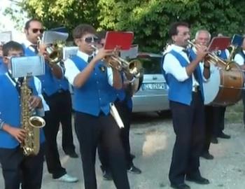Festeggiamenti agostani sul Peglia. La banda di San Venanzo si esibisce a Ospedaletto