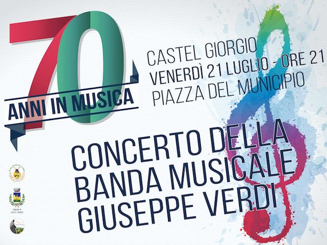 Settant'anni in musica per la Banda di Castel Giorgio