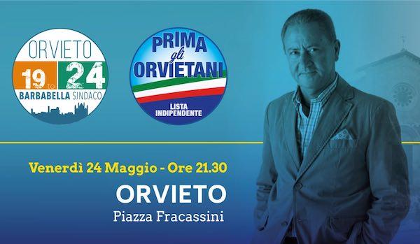 In Piazza Fracassini con le liste a sostegno di Franco Raimondo Barbabella