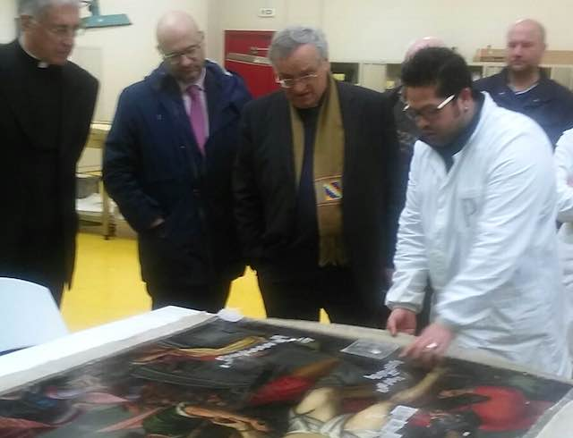 Bellezza ferita dal sisma, visita alle opere d'arte custodite a Santo Chiodo di Spoleto