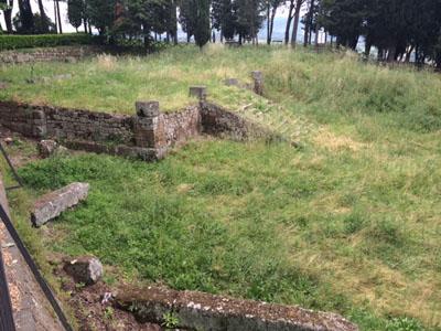 Il Tempio Etrusco del Belvedere abbandonato e sommerso dall'erba