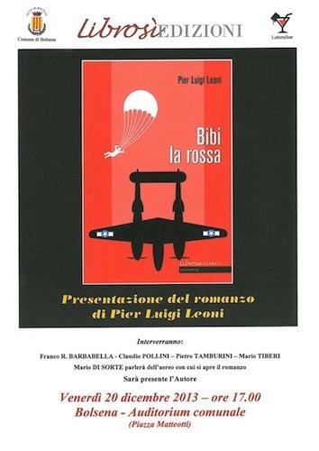 """Pier Luigi Leoni presenta """"Bibi la rossa"""""""