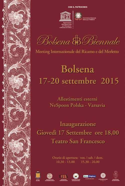 Sulle rive del lago è il giorno di Bolsena Biennale, il meeting internazionale del ricamo e del merletto