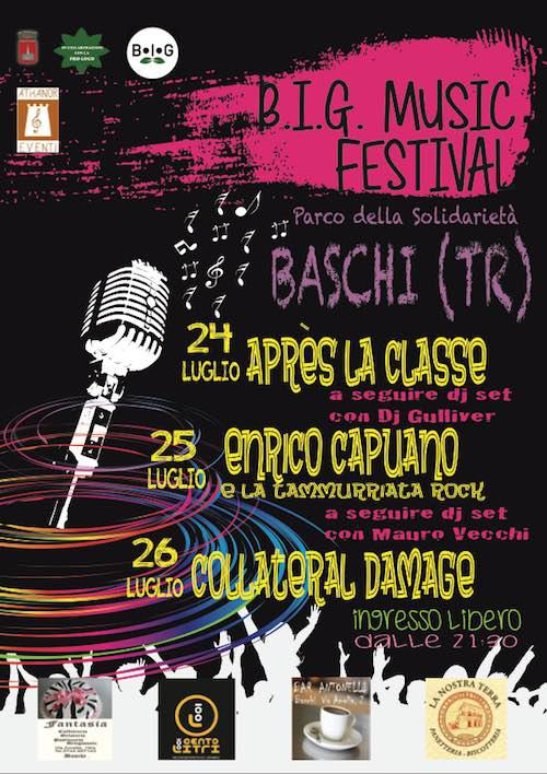 """Après La Classe, Enrico Capuano e Collateral Damage in concerto al """"Big Music Festival"""""""