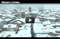Blizzard a Orvieto - Video e Foto