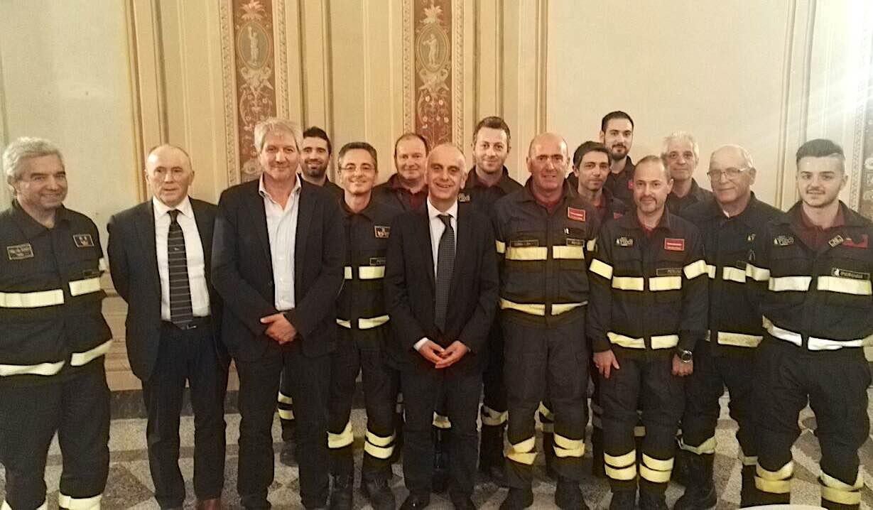 Il sottosegretario Bocci visita i volontari del Distaccamento Vigili del Fuoco