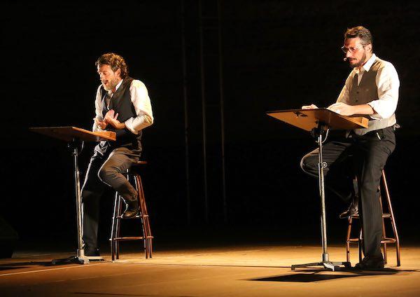 """Alessio Boni e Marcello Prayer in """"Canto degli Esclusi. Concertato a due per Alda Merini"""""""