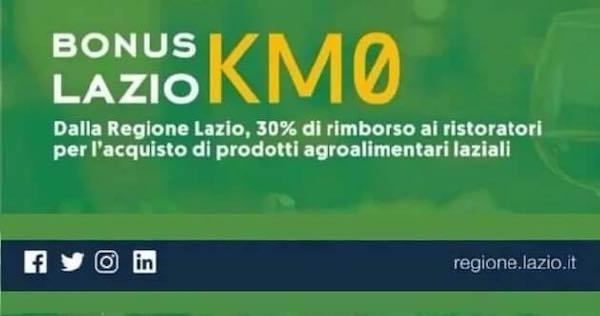 BonusLazioKm0, un sostegno ai ristoratori e a tutta la filiera agroalimentare