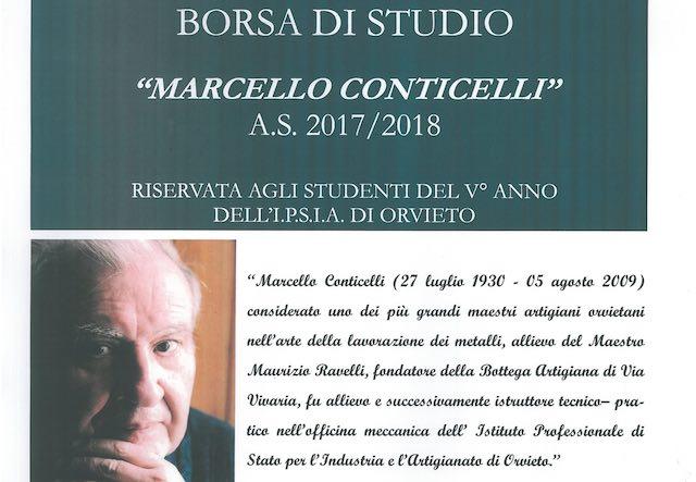 """Istituita la Borsa di Studio """"Marcello Conticelli"""" per gli allievi dell'Ipsia"""